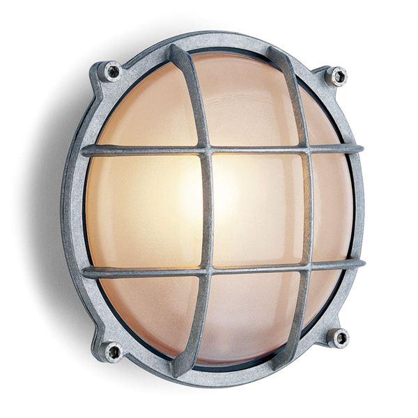 Wandlamp aluminium rond