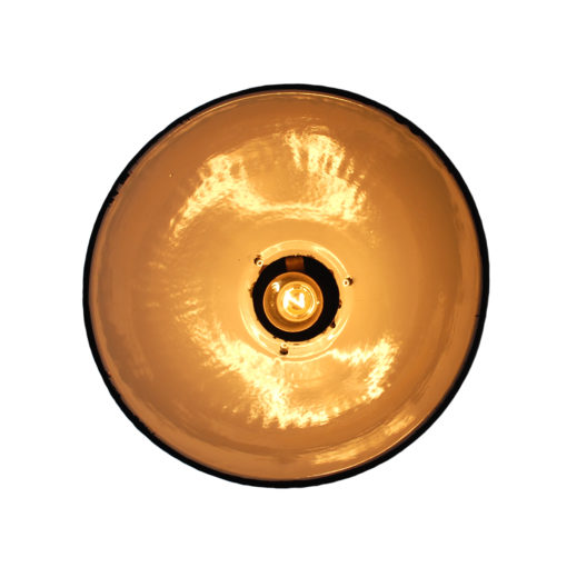 Oude hanglamp binnenkant